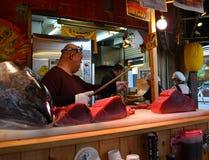 Fresh tuna. Stall at Kuromon-Ichiba Market, Osaka Royalty Free Stock Photos