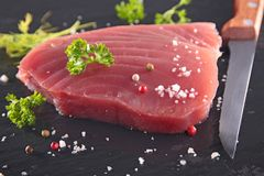 Fresh tuna steak Stock Image