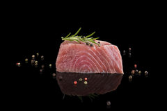 Fresh tuna steak. Sashimi sushi. Stock Photography