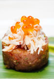 Fresh tuna tartar Stock Photography