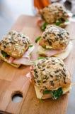 Fresh turkey ham and avocado sandwich Royalty Free Stock Photography