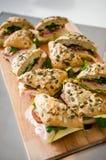 Fresh turkey ham and avocado sandwich Royalty Free Stock Image