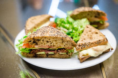 Fresh turkey ham and avocado sandwich Stock Photos