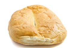 Fresh turkish bread. Fresh turkish big bread isolated over white Royalty Free Stock Image