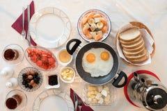 Fresh Turkish Breakfast on Table Stock Photography