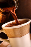 Fresh Turkish coffee. stock image
