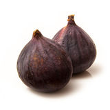 Fresh Turkish figs isolated on a white studio background. Royalty Free Stock Image