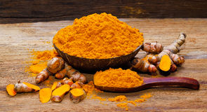 Fresh turmeric roots Stock Image