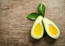 Fresh two halfs of avocado like a bowl for oil Stock Images