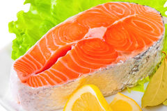 Fresh uncooked Pacific Coast Salmon Stock Images