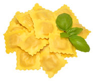 Fresh Uncooked Ravioli Pasta Royalty Free Stock Photography