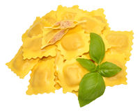 Fresh Uncooked Ravioli Pasta Royalty Free Stock Photo