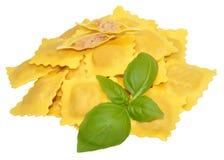 Fresh Uncooked Ravioli Pasta Stock Image