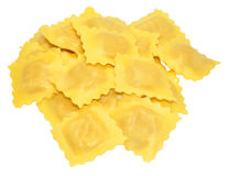 Fresh Uncooked Ravioli Pasta Stock Photography