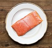 Fresh uncooked red fish fillet Stock Images