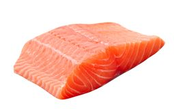 Fresh uncooked red fish fillet royalty free stock photography