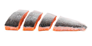 Fresh uncooked red fish fillet slices. Royalty Free Stock Photos