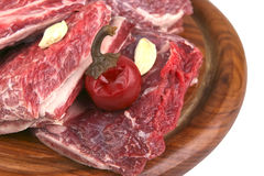 Fresh uncooked ribs Royalty Free Stock Photo