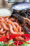 Fresh uncooked sea food specialties Stock Photo