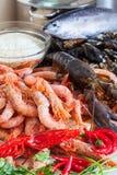 Fresh uncooked sea food specialties Stock Photo