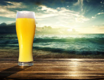 Fresh unfiltered beer Royalty Free Stock Images