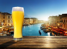 Fresh  unfiltered beer in Venice, Italy Stock Images