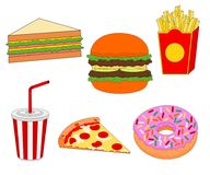 Isolated delicious fast food menu icon. Isolated delicious fast food meal menu , icon set royalty free illustration