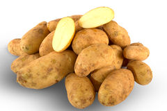 Fresh unwashed potatoes Royalty Free Stock Photos