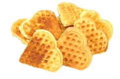 Fresh vaffel cookies Royalty Free Stock Photo