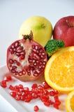 Fresh Variety Healthy Fruits on White Background Stock Photos