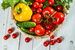 Fresh variety of vegetables royalty free stock images