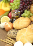 Fresh and  Various foods and bread Stock Photo