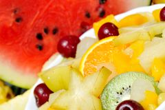 Fresh various fruits Stock Images