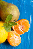 Fresh various fruits Stock Photo