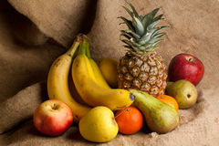 Fresh various fruits Stock Photography