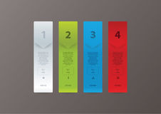 Fresh vector bookmarks with space for your content. three steps, Stock Photo