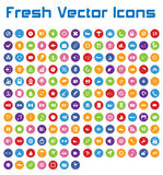 Fresh Vector Icons (circle version II ) Royalty Free Stock Images