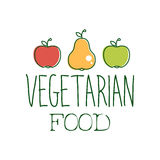 Fresh Vegan Food Promotional Sign With Two Apples And A Pear For Vegetarian, Vegan And Raw Food Diet Menu Stock Photography
