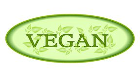Fresh vegan symbol isolated Stock Photography