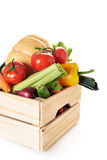 Fresh vegatables in crate Stock Photo