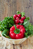 Fresh vegetable. In a basket Royalty Free Stock Photos