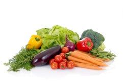 Fresh Vegetable. Fresh biological vegetables, white background, reflective surface Royalty Free Stock Images