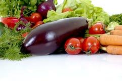 Fresh Vegetable. Fresh bio vegetables, white background, reflective surface Royalty Free Stock Images