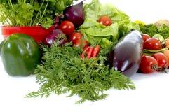 Fresh Vegetable. Fresh bio vegetables, white background, reflective surface Stock Image