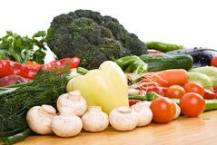 Fresh vegetable. For all seasons on wood table in kitchen.Check out also stock photos