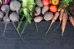 Fresh vegetable background, healthy vitamin food. Agriculture supermarket stock photo