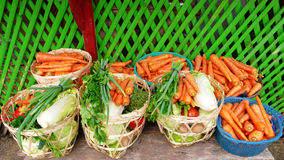 Fresh vegetable on basket Royalty Free Stock Photo