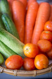 Fresh vegetable in basket Royalty Free Stock Images