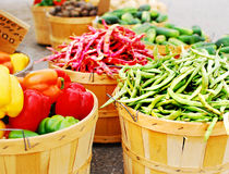 Fresh Vegetable Baskets. An image of several baskets full of fresh vegetables Stock Images