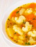 Fresh vegetable cauliflower soup Royalty Free Stock Images